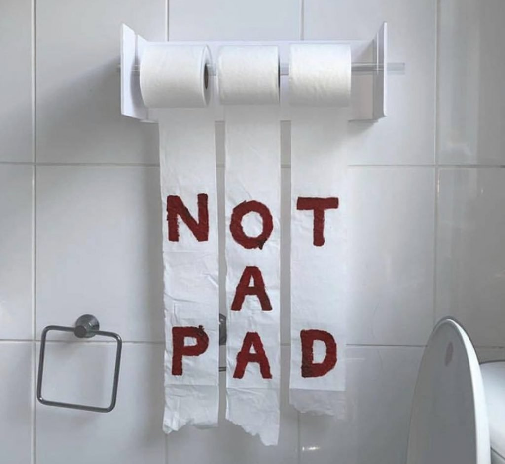 Why period products for free in school  is important - toilet paper is not a pad.